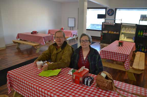 Lynn and Billie Condoluci are happy to have the Barre Deli back as a neighbor.