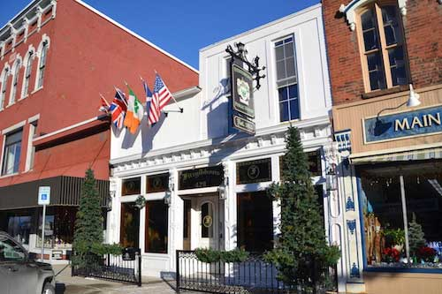 The former Silver Dollar on Main Street was radically renovated to become Fitzgibbons Public House.