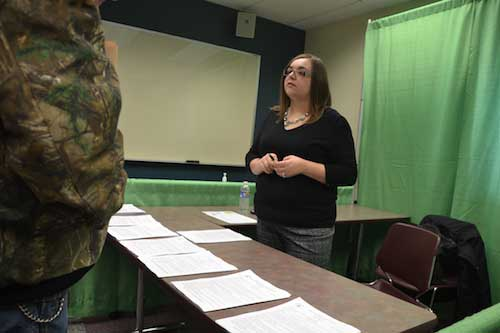 Katie Harvey, a personnel assistant for Orleans County, discusses positions available in local governments, including custodians, clerks and caseworkers.