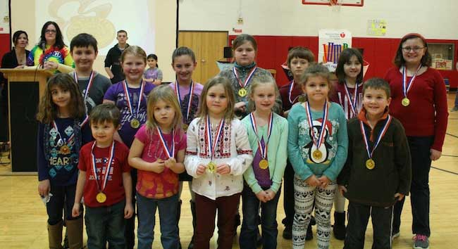 The students were recognized during an assembly on Jan. 13.