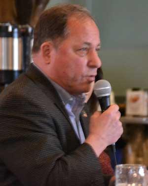 Steve Hawley speaks during Friday's Legislative Luncheon.