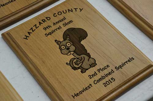 Plaques are awarded to the winning teams.