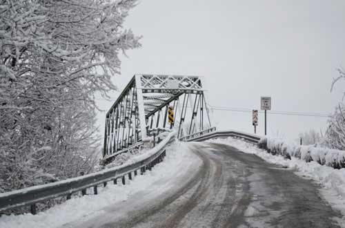 The Beals Road bridge in Ridgeway is pictured during the winter. The bridge was built during the barge canal expansion.