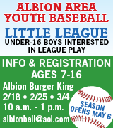 Albion Little League registration beginning February 18