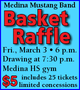 Mustang Band Basket Raffle March 3