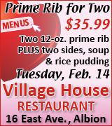 Link to Village House menus