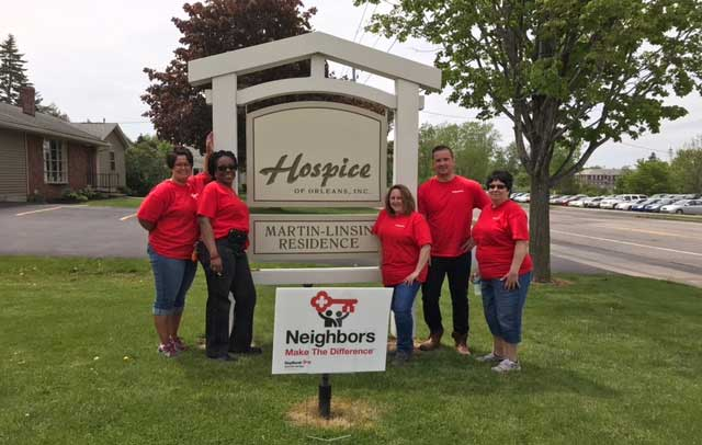 Keybank Employees Worked On Many Community Projects Last Week Including At Hospice Orleans Hub