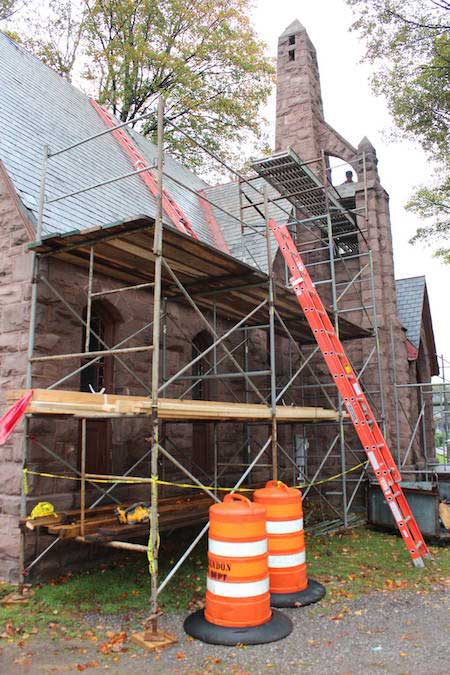 Work Gets Started On Replacing Roof Of Historic Chapel At