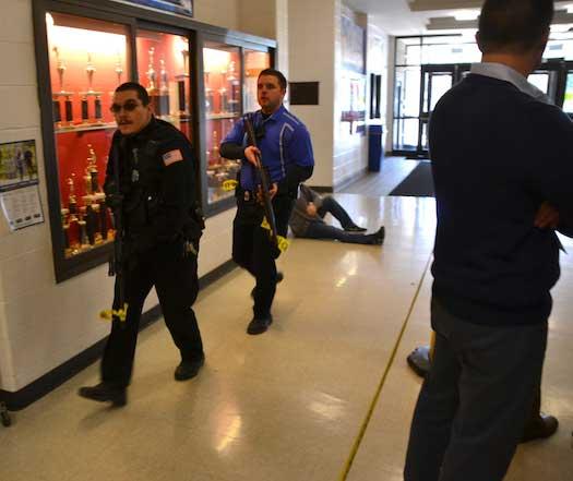 In emergency response drill, first responders seek to reduce