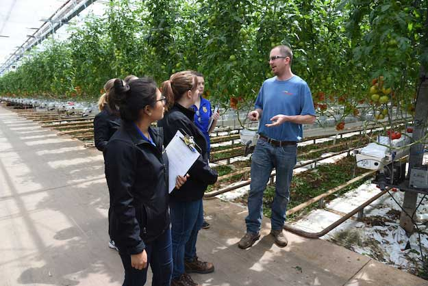 Agri-Business students tour Intergrow, other local