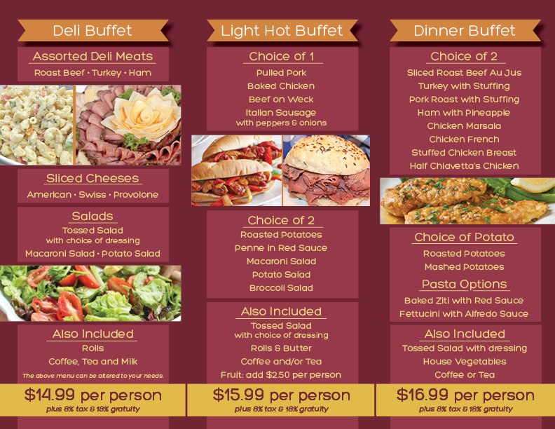 Chap's catering menu page two