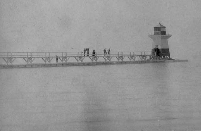 Photo From Orleans County Department Of History This Shows The Original Oak Orchard Lighthouse Which Was Built In 1871 On Pier West Side