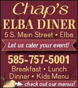 Link to Chap's Elba Diner menus