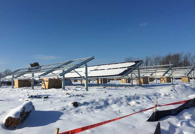 solar array going up by albion 39 s sewer plant orleans hub. Black Bedroom Furniture Sets. Home Design Ideas