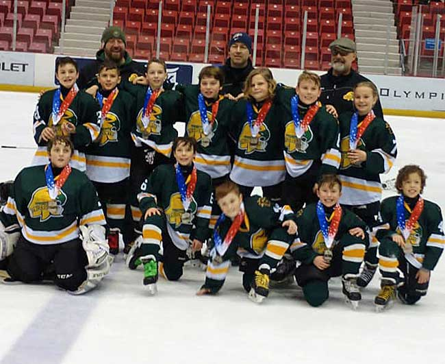 Tri County Squirt Hockey Team Earns Silver Medal In Tournament At