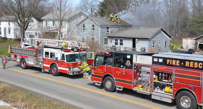 Firefighters put out blaze at Eagle Harbor house | Orleans Hub