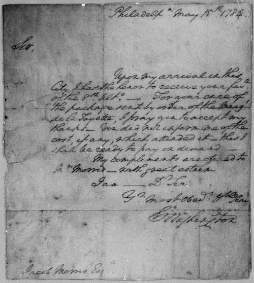 Hoag Library's latest find: letter from George Washington