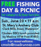 Free fishing day 11 a.m. June 23 at St. Mary's Archery Club