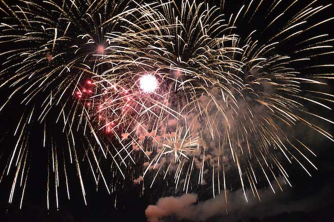 FIREWORKS NEW YORK FOURTH OF JULY IN 1834 CELEBRATION