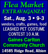 Flea market at Gaines Carlton Community Church August 3 from 9 a.m. to 3 p.m.