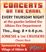 Jonesie and the Cruisers at the gazebo behind the Albion Fire Department 6 p.m. August 8
