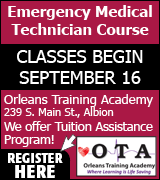 Link to Orleans Training Academy website for EMT training course information