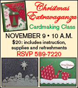 Christmas cardmaking class November 9 at Albion First Presbyterian