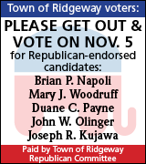 Vote for Ridgeway Republicans on November 5