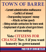 Vote Citizens for Change in Barre on November 5