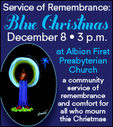Service of Remembrance at Albion First Presbyterian Church 3 p.m. December 8