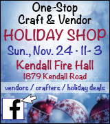 Link to One Stop Craft and Vendor Holiday Shop on Facebook