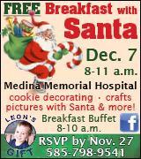 Link to Medina Memorial Hospital Breakfast with Santa on Facebook