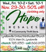 Link to Hope Resales on Facebook