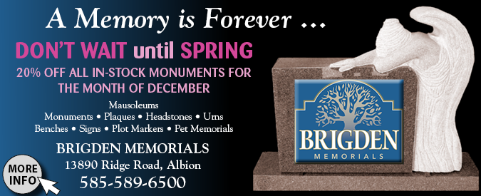Link to Brigden Memorials website