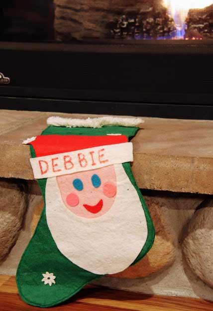 Debbie London's stocking