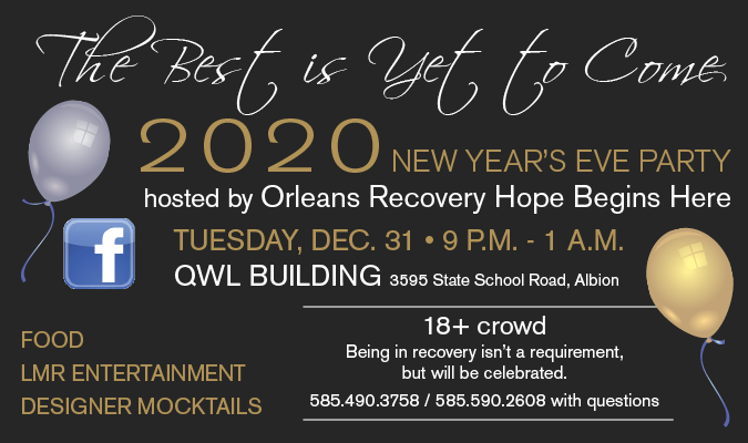 Link to Orleans Recovery Hope New Year's Eve Party on Facebook