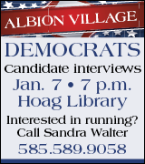 Albion Democrats candidate meeting 7 p.m. January 7 at Hoag Library