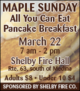 Link to pancake breakfast information on Shelby Fire Company website