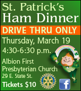Link to Albion Rotary St. Patrick's ham dinner information on Facebook