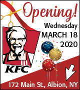 KFC is opening March 18 at 172 Main Street, Albion