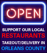 Link to local takeout and delivery options in Orleans County