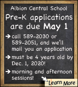 Link to Pre-K signup at Albion Central School
