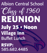 Albion class of 1960 reunion 12 p.m. July 25 at the Village Inn