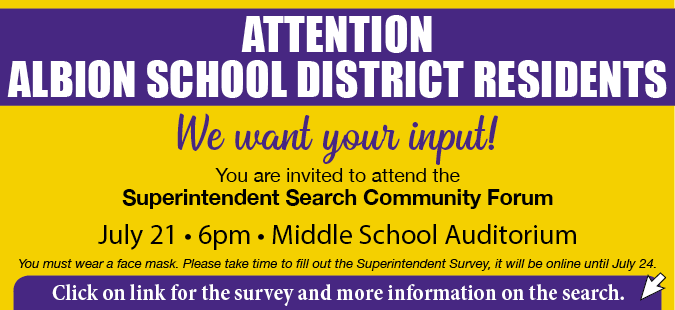 Link to Albion school superintendent survey