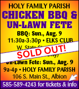Holy Family Parish BBQ is sold out