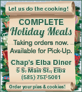 7294 Chap's Elba Diner Holiday Meals