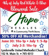 162-54 Hope Resales 6/30-7/3