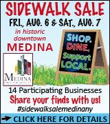 Medina Area sidewalk sale 8/6-7