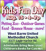 168-80 W Barre UMC Kids Day 8/15
