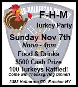 179-94 FHM Turkey Raffle 11/7